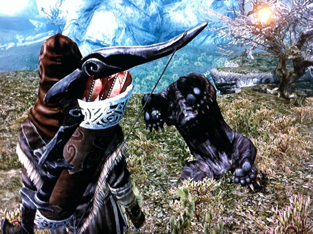 Skyrim: upside down bear